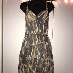 Banana Republic Sheer Twisted Strap Mini Dress
